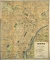 Pianta topografica della città di Torino, 1950 circa