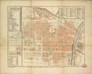 Pianta topografica della città di Torino, 1880 circa. Biblioteca civica centrale, Cartografico  3/4.16.01 © Biblioteche civiche torinesi