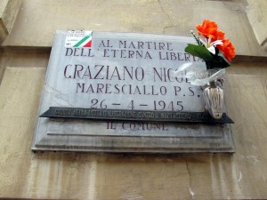 Lapide dedicata a Graziano Nicola (1910 - 1945)