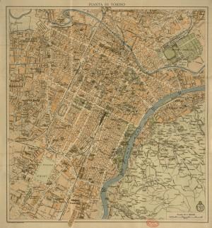 Pianta di Torino, 1930 circa. Biblioteca civica centrale, Cartografico  3/4.4.01 © Biblioteche civiche torinesi