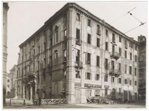 Orfanotrofio, Via della Consolata angolo Piazza Savoia. Effetti prodotti dai bombardamenti dell'incursione aerea dell'8 dicembre 1942. UPA 2719_9C05-33. © Archivio Storico della Città di Torino