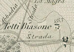 Cascina Biasone. Antonio Rabbini , Carta Topografica dei Contorni di Torino, 1878. © Archivio Storico della Città di Torino