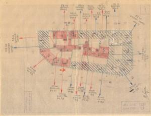 Bombardamenti aerei. Censimento edifici danneggiati o distrutti. ASCT Fondo danni di guerra inv. 1291 cart. 26 fasc. 47. © Archivio Storico della Città di Torino