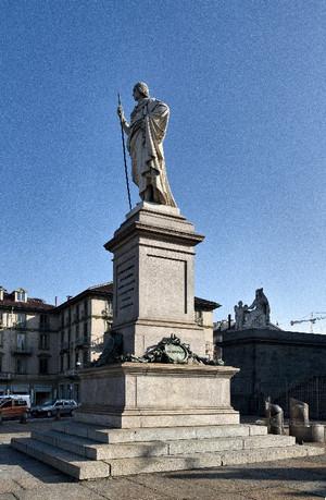 Giuseppe Gaggini, Statua di Vittorio Emanuele I di Savoia (veduta laterale), 1849. Fotografia di Mattia Boero, 2010. © MuseoTorino.