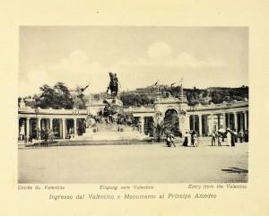 Monumento ad Amedeo di Savoia e ingresso all'Esposizione Internazionale del 1911. © Archivio Storico della Città di Torino
