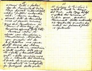 Diario dell'Istituto Lorenzo Prinotti, 1943. ASCT, Fondo Prinotti cart. 31 fasc. 11, 10, pp. 62-63. © Archivio Storico della Città di Torino