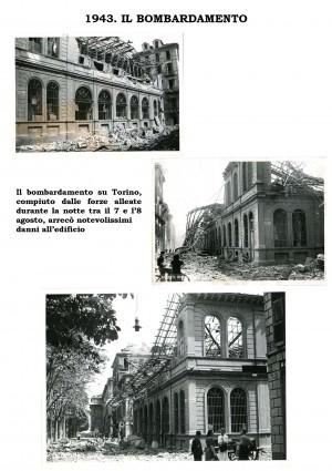 Danni alla Biblioteca civica Centrale in seguito al bombardamento del 1943