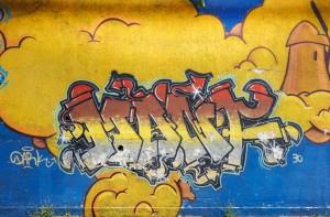 MKE, All'ombra dei mulini, 2011, cavalcavia corso Bramante, dettaglio, Fotografia di Roberto Cortese, 2017 © Archivio Storico della Città di Torino