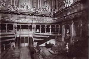 Torino, Palazzo Madama, aula del Senato, vista verso sud-est, 1923. © Soprintendenza per i Beni Architettonici e Paesaggistici per le province di Torino, Asti, Cuneo, Biella, Vercelli.