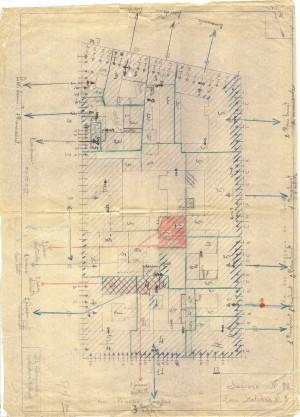 Bombardamenti aerei. Censimento edifici danneggiati o distrutti. ASCT Fondo danni di guerra inv. 82 cart. 2 fasc. 11. © Archivio Storico della Città di Torino