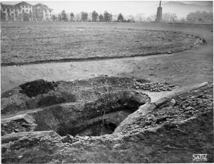 FIAT Autocentro - Stabilimento di Mirafiori. Effetti prodotti dal bombardamento dell'incursione aerea del 20-21 novembre 1942. UPA 2202_9B06-45. © Archivio Storico della Città di Torino