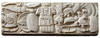 Uno dei blocchi del monumento funerario con fregio d'armi, © Soprintendenza per i Beni Archeologici del Piemonte e del Museo Antichità Egizie.