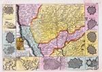 Carta del Piemonte, con i territori limitrofi, e piante di altre dodici città, 1709