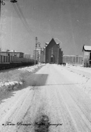 Chiesa del Gesù Redentore. Fotografia di Hugo Daniel, fine degli anni Cinquanta del Novecento