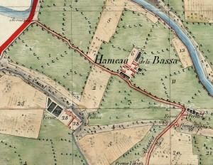 Cascina Perrone. Mappa primitiva Napoleonica, 1805. © Archivio Storico della Città di Torino