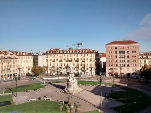 Veduta di Piazza Carlina. Fotografia di Maria Paola Soffiantino, 2017