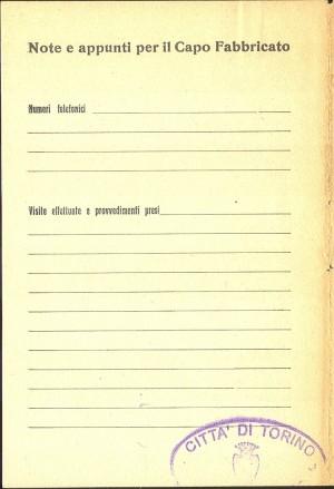 Unione Nazionale Protezione Antiaerea. Norme per il capo fabbricato, pagina 8 di 8. ASCT, Miscellanea sicurezza pubblica 58. © Archivio Storico della Città di Torino