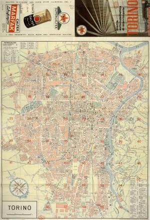 Pianta automobilistica di scorrimento, 1961. Biblioteca civica centrale, Cartografico  3/4.47.01 © Biblioteche civiche torinesi