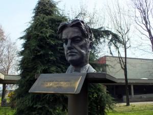 Biblioteca civica Luigi Carluccio. Vladimir Majakovskij, di Lena Kosova. Fotografia di Paola Boccalatte, 2014. © MuseoTorino