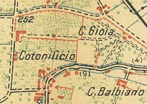 Cascina Gioia. Pianta di Torino e dintorni, 1911. © Archivio Storico della Città di Torino