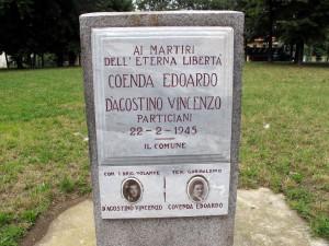 Lapide dedicata a Coenda Edoardo e D'Agostino Vincenzo