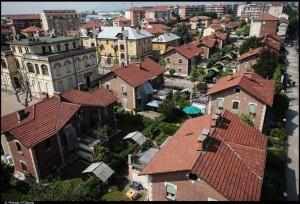 Veduta aerea del Villaggio Leumann. Fotografia di Michele D'Ottavio, 2011. © MuseoTorino