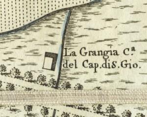 Cascina La Grangia, già Lagrange. Amedeo Grossi, Carta Corografica dimostrativa del territorio della Città di Torino, 1791. © Archivio Storico della Città di Torino