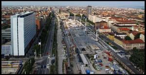 Veduta del cantiere della stazione di Porta Susa (2). Fotografia di Michele D'Ottavio, 2010. © MuseoTorino.