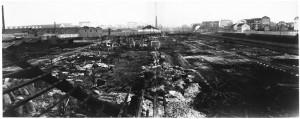 Via Rivalta, 61. Stabilimento FIAT - Sezione Materiale Ferroviario. Effetti prodotti dai bombardamenti dell'incursione aerea del 20-21 novembre 1942. UPA 2052_9F02-13. © Archivio Storico della Città di Torino