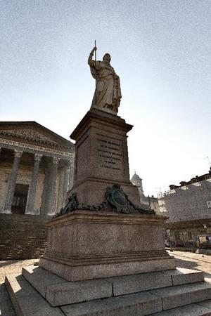 Giuseppe Gaggini,Monumento aVittorio Emanuele I di Savoia, 1849. Fotografia di Mattia Boero, 2010. © MuseoTorino.