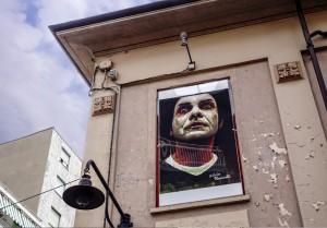 Silvio Porzionato, murale senza titolo, 2000, via san Rocchetto 7A, MAU Museo Arte Urbana. Fotografia di Roberto Cortese, 2017 © Archivio Storico della Città di Torino