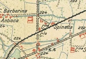 Cascina Spinetta, già Taschero. Istituto Geografico Militare, Pianta di Torino e dintorni, 1911. © Archivio Storico della Città di Torino