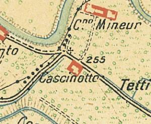 Cascina Perrone. Istituto Geografico Militare, Pianta di Torino e dintorni, 1911. © Archivio Storico della Città di Torino