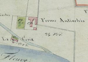 Cascina Antiochia. Mappa primitiva Napoleonica, 1805. © Archivio Storico della Città di Torino