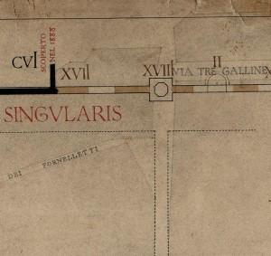 Tratti delle mura della città romana vicino a piazza Emanuele Filiberto