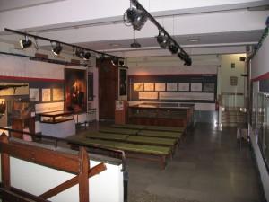 Il salone al piano interrato ospita il plastico della Cittadella ed è dedicato alla descrizione delle gallerie di contromina. Fotografia di Fabrizio Zannoni, 2010