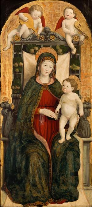 Giovanni Martino Spanzotti (1455-1426/28), Madonna col Bambino, 1500-1520 circa, tempera su tavola. Torino, Pinacoteca dell'Accademia Albertina.