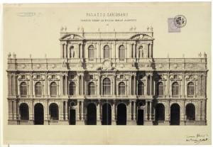 Palazzo Carignano, progetto per il prospetto su Piazza Carlo Alberto. © Archivio Storico della Città di Torino