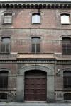 Ex caserma Ettore De Sonnaz. Porzione del fronte su via Revel con ingresso principale. Fotografia di Caterina Franchini.