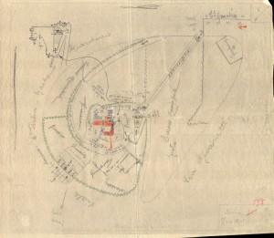 Bombardamenti aerei. Censimento edifici danneggiati o distrutti. ASCT Fondo danni di guerra inv. 595 cart. 12 fasc. 2. © Archivio Storico della Città di Torino