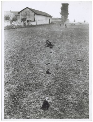 Cascinette (Strada Vicinale delle). Effetti prodotti dai bombardamenti dell'incursione aerea del 10-11 settembre 1941: zona est degli Stabilimenti SNIA Viscosa. UPA 1201D_9A03-44. © Archivio Storico della Città di Torino