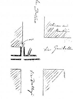 Tratto di condotto fognario in via Garibaldi