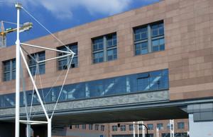 Particolare di un edificio della Cittadella Politecnica. Fotografia di Bruna Biamino, 2010. © MuseoTorino