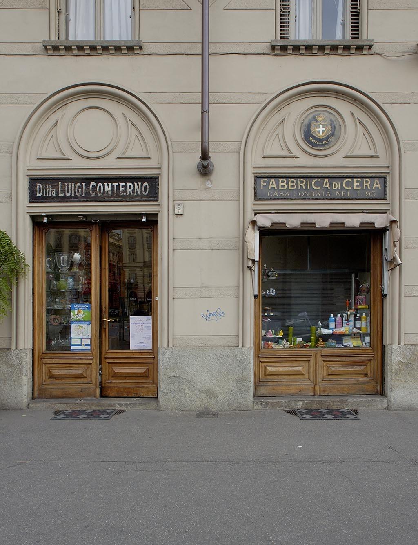 Negozi Biancheria Casa Torino conterno, cereria - museotorino
