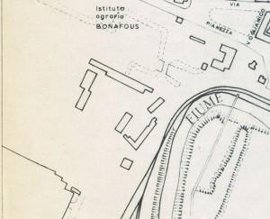Castello di Lucento. Istituto Geografico Militare, Pianta di Torino, 1974, © Archivio Storico della Città di Torino