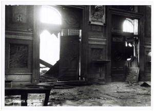 Chiesa di San Gioacchino, Corso Giulio Cesare angolo Via Vittorio Amedeo Cignaroli 3. Effetti prodotti dai bombardamenti dell'incursione aerea dell'8-9 dicembre 1942. UPA 2756_9C06-06. © Archivio Storico della Città di Torino