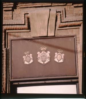 Regia farmacia Masino, insegna sovrapporta, 1998 © Regione Piemonte