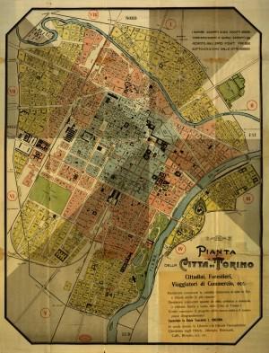 Pianta della città di Torino, 1910 circa. Biblioteca civica centrale, Cartografico 3/4.12.02 © Biblioteche civiche torinesi