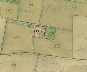 Cascina Borello. Catasto Gatti 1820-1830. © Archivio Storico della Città di Torino
