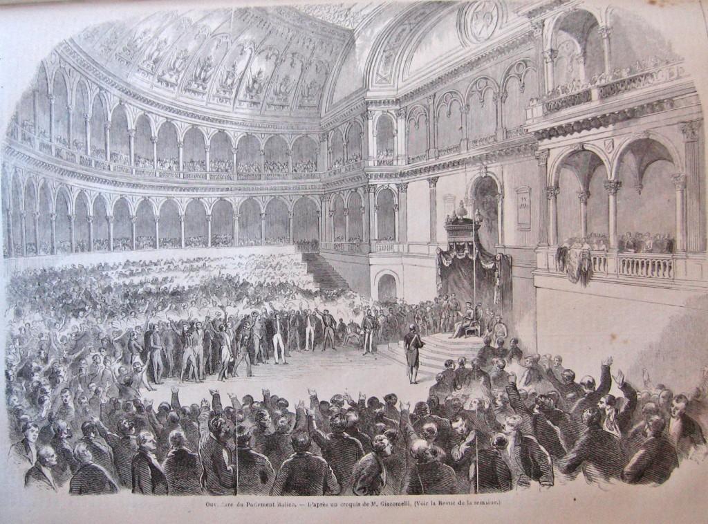 Aula del parlamento subalpino museotorino for Parlamento italiano deputati